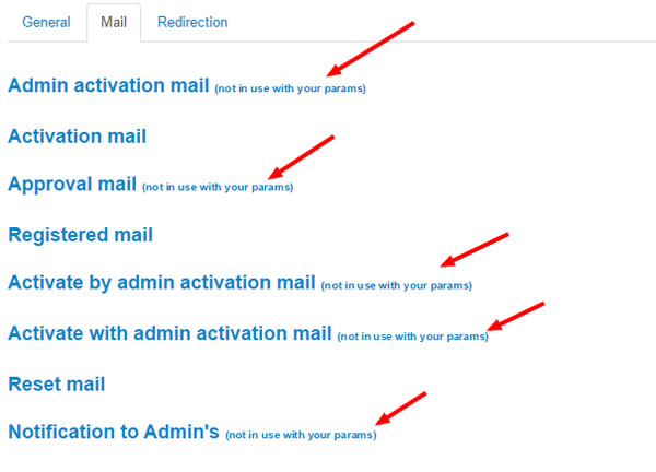 notification mail